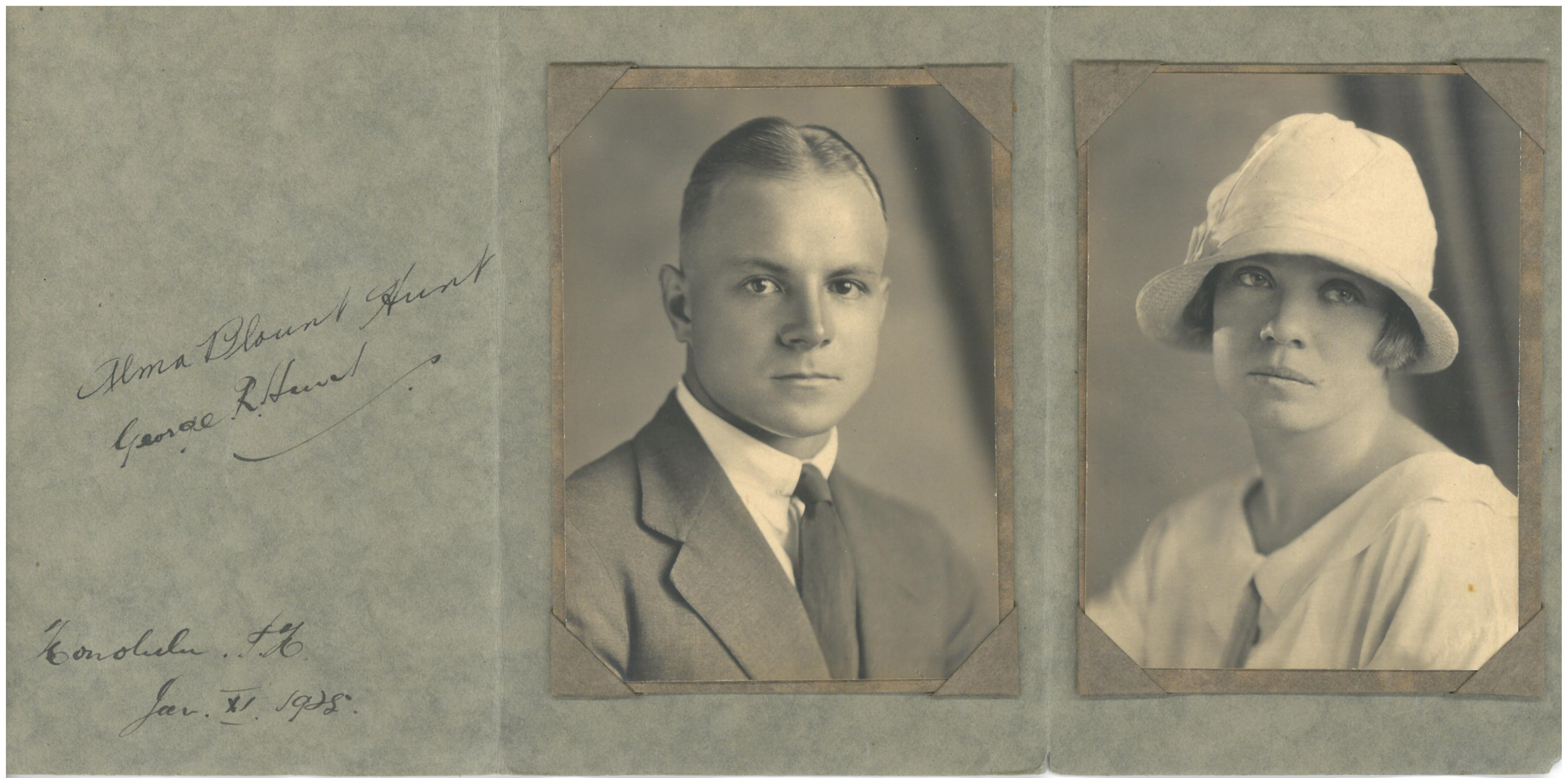 Alma Blount and George Hunt 1925
