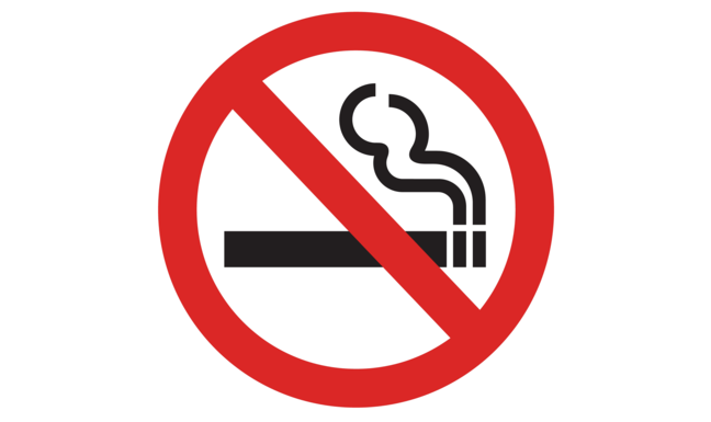A prohibition sign telling us not to smoke