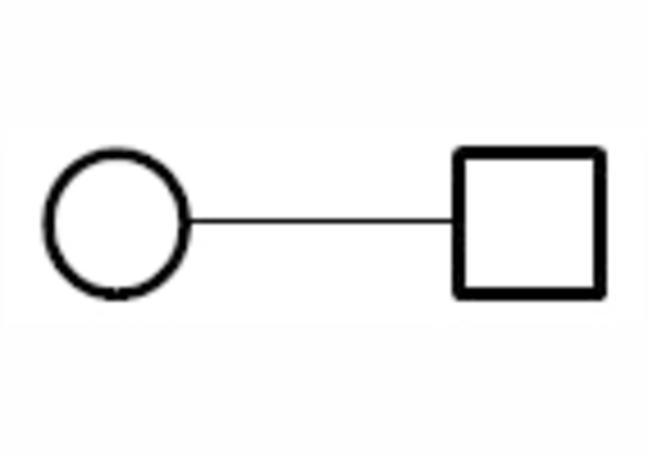 Line Between Symbol