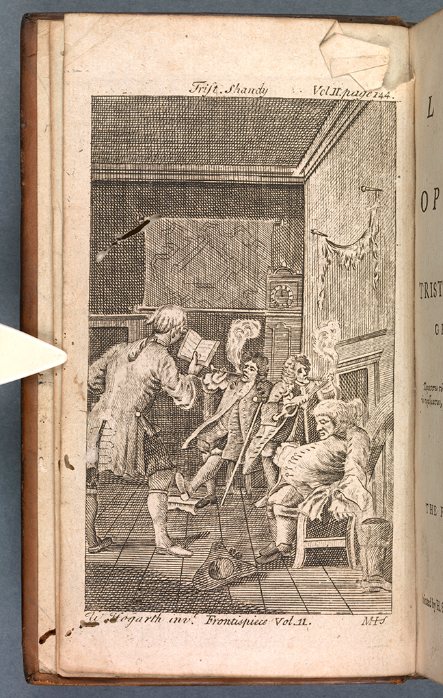 Fig 2. Sterne, *The Life and Opinions of Tristram Shandy, Gentleman*, Vol 1 (London, 1780) Frontispiece © Wikimedia