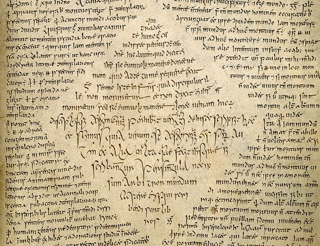 figure 2, a sample of handwriting by Ferdomnach, scribe of the Book of Armagh