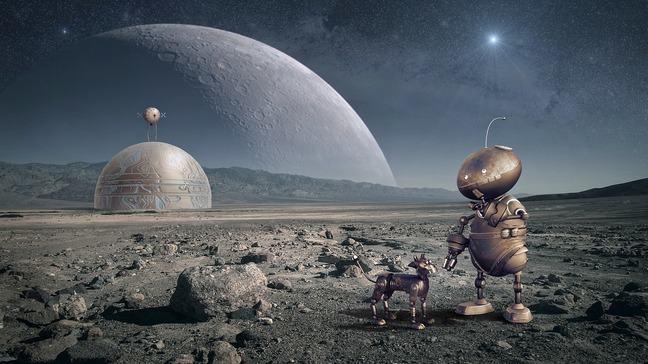 Robot Future Moon