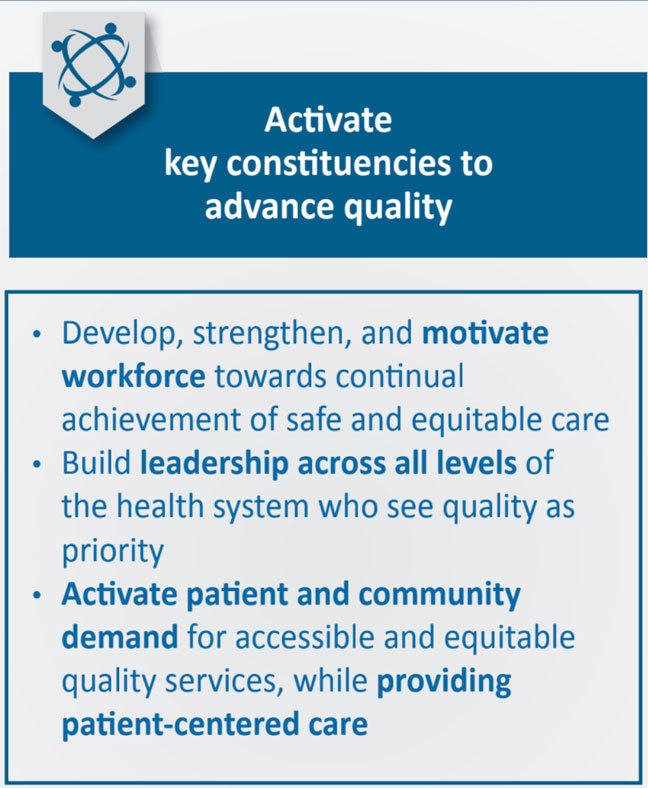 Activate key constituencies to advance quality