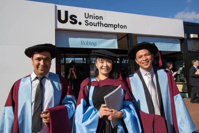 New doctoral graduates from CGE © University of Southampton