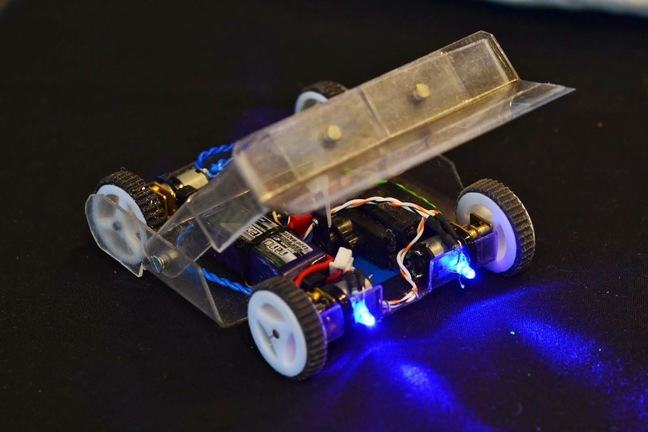One of the Antweight robots owned by members of the University's Robot Wars group