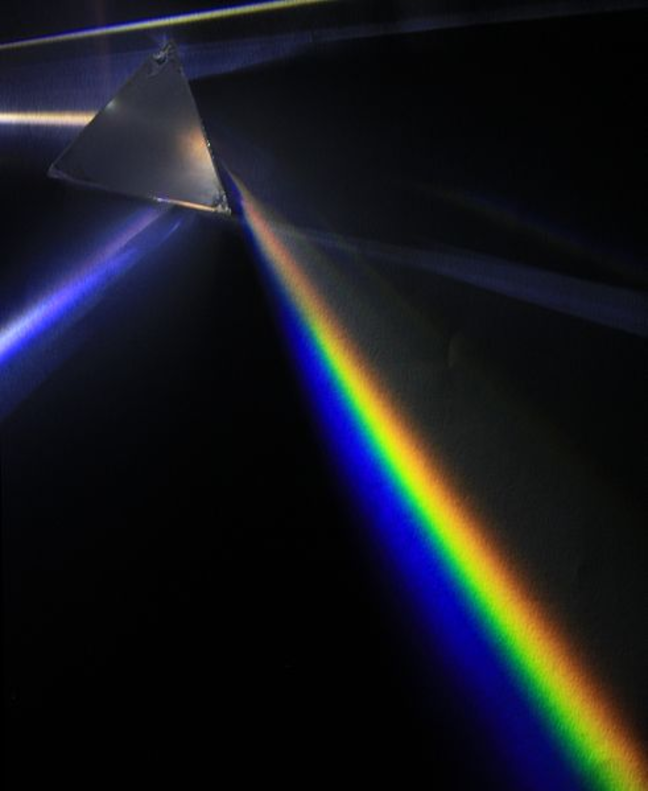 White light split through a prism