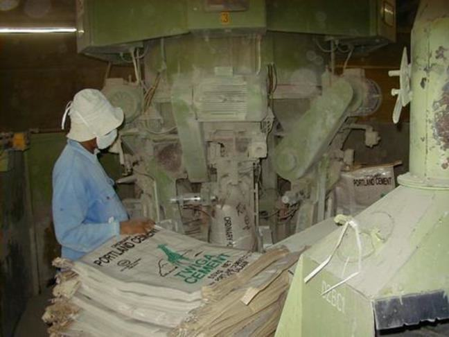 Workers in the cement manufacturing industry