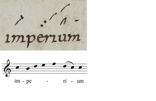 Transcription from the Graduale Romanum