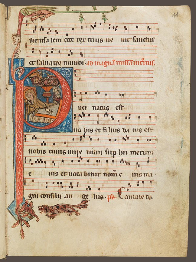 Manuscript with square notation.