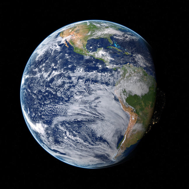 Photograph of the Earth from space