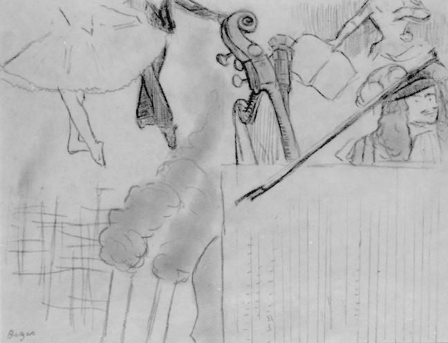 Degas Program for an Artistic Soirée 2