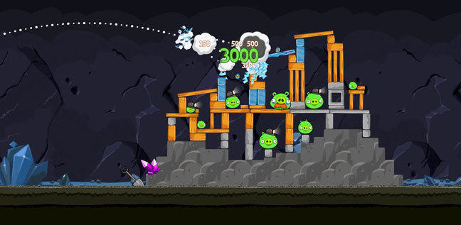 Image showing Angry Birds game play