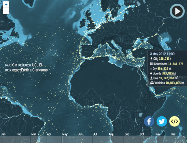 Ship Movements Across the Globe
