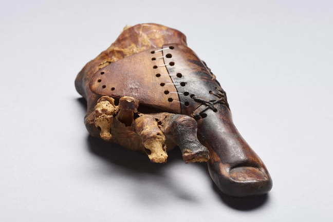Wooden Toe Prosthetic