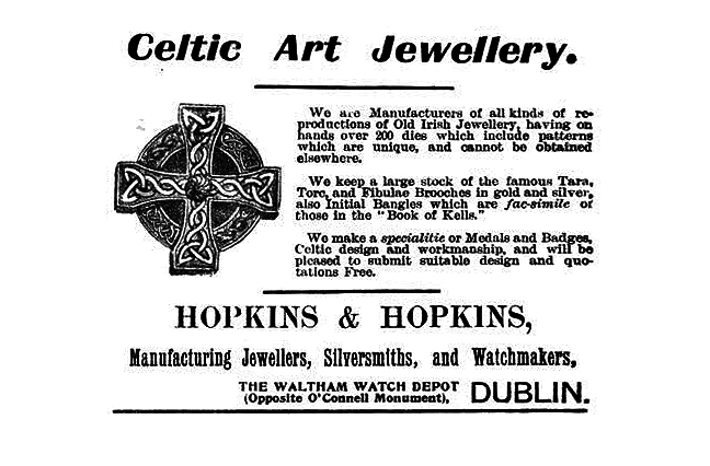 Figure 1, advertisement for Celtic-style jewellery