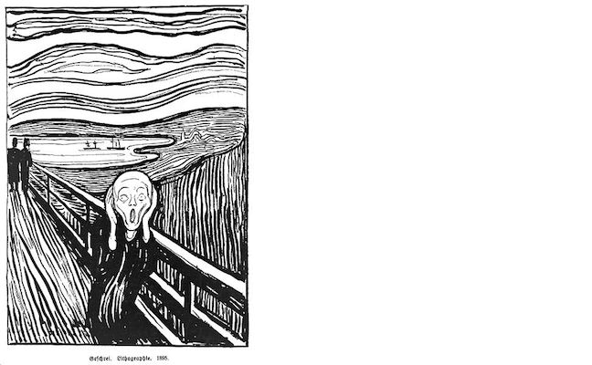 The Scream Lithograph