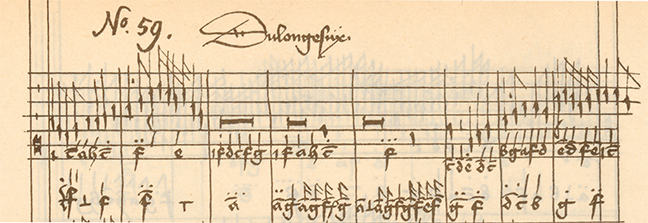 "Intabulation of Gilles de Bins dit Binchois' ""Dueil angoisseux"" in Older German organ tablature"