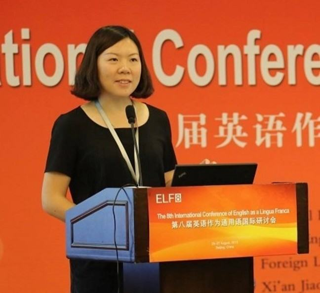 Ying Wang speaking, as organiser, at ELF8 © ELF8 used with permission of the organising committee