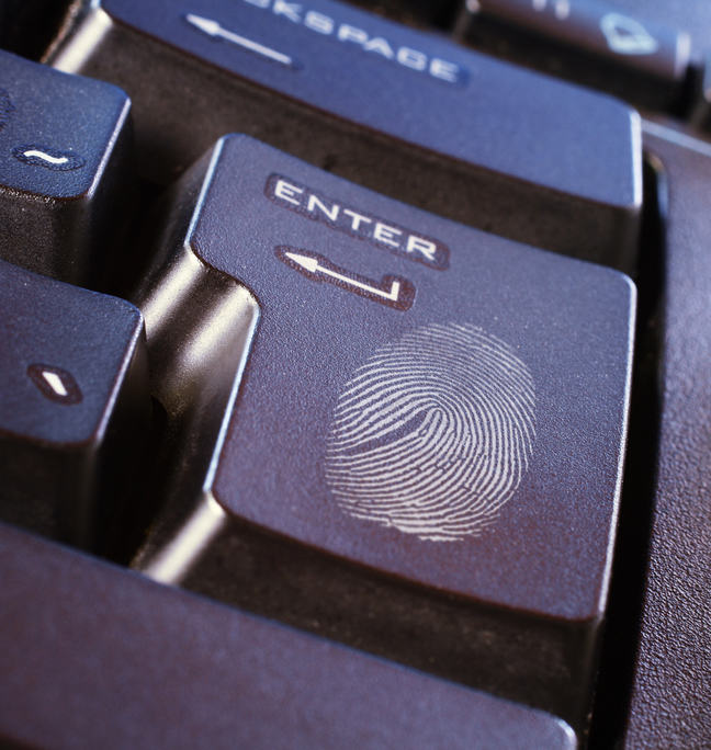 Fingerprint on keyboard button