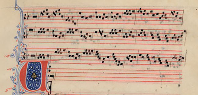 Ancient music sheet