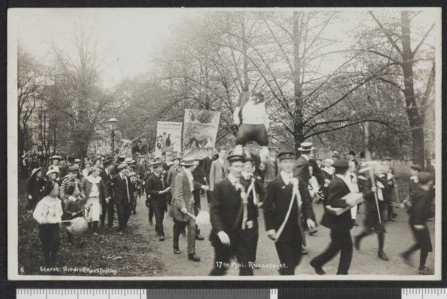 Russ parade 1908 Oslo