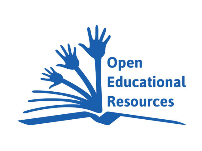 graphic of OER and hands