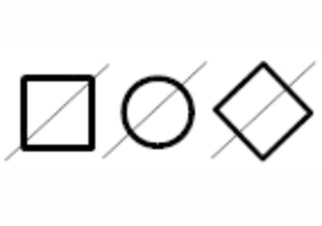 Line Diagonally Through Symbol