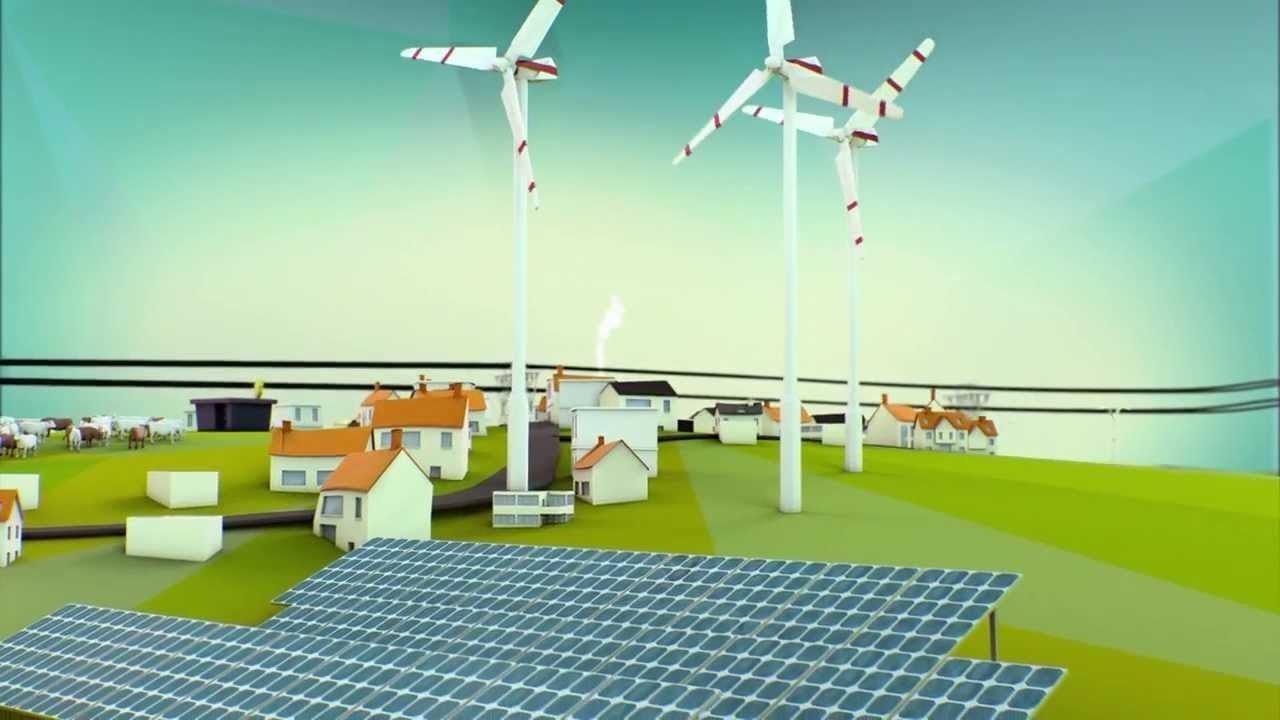 Impression of an energy landscape