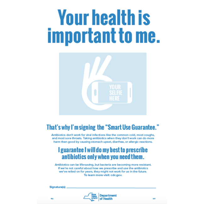 example of a commitment pledge for for physicians to encourage the prescription of antibiotics that comply with stewardship efforts