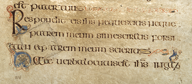 Figure 1, from the Book of Kells, a patch sticked onto a page