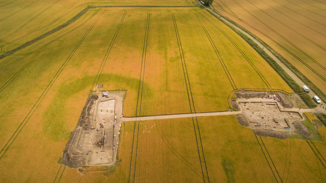 Aerial shot of Willsford henge