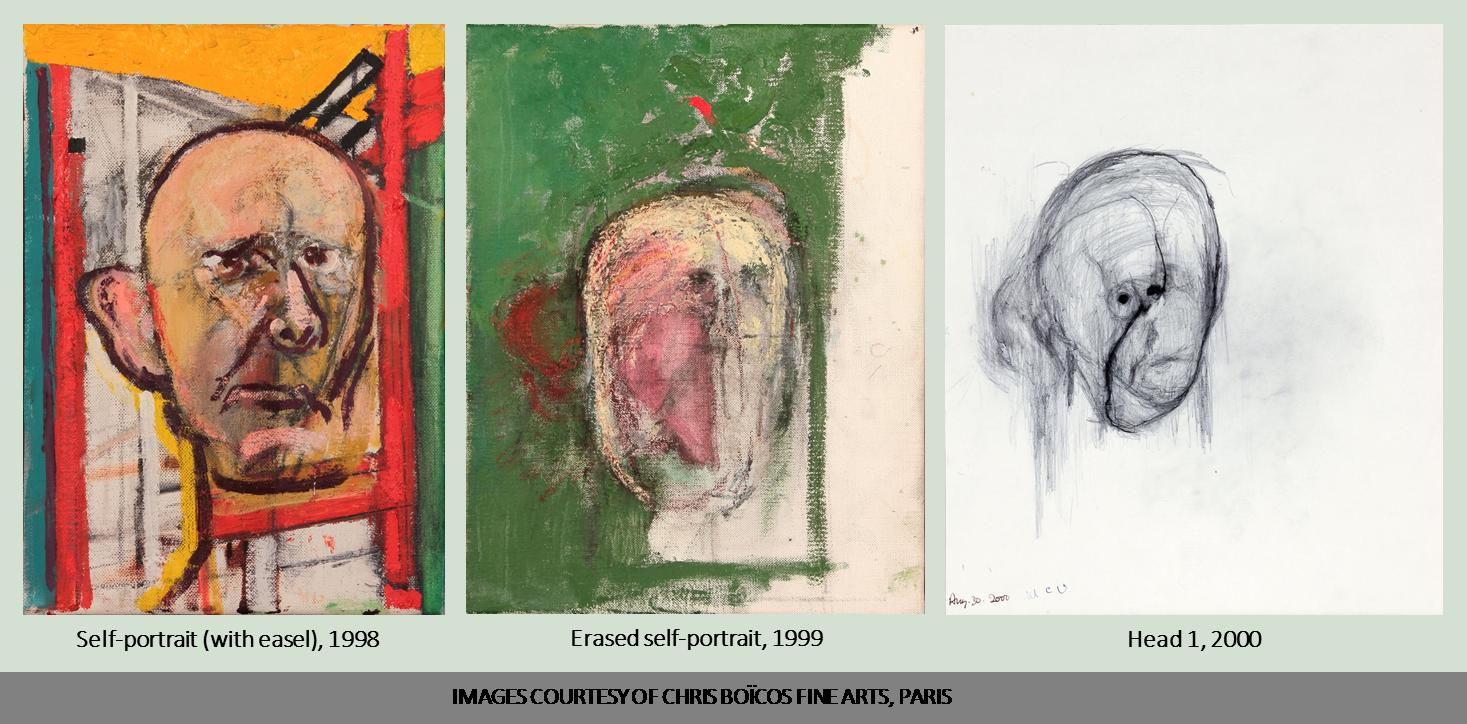 William Utermohlen self-portraits 1998, 1999, 2000