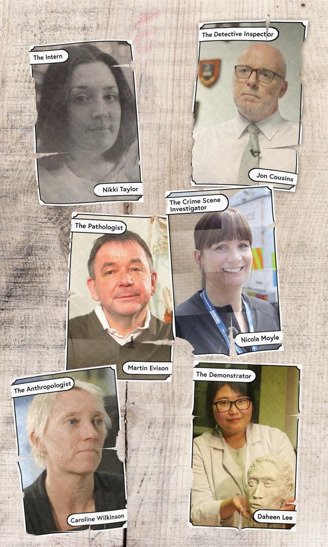 An image of our experts on the course: Nikki Taylor, Jon Cousins, Martin Evison, Nikki Taylor, Nicola Moyle, Caroline Wilkinson and Daheen Lee