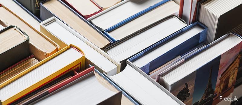 Stacked books - Freepik