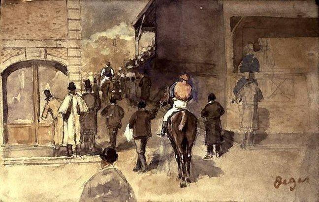 Degas La Sortie de Pesage
