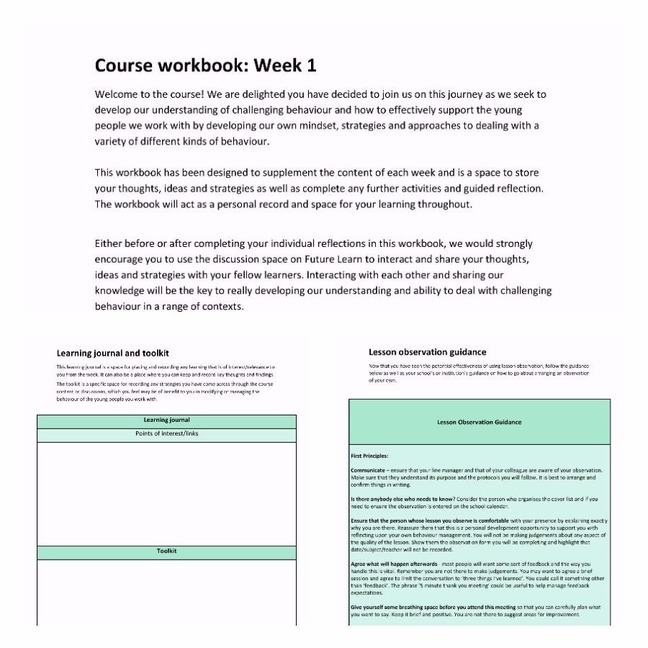 Course workbook screenshot