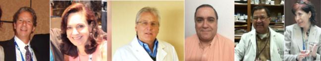 Dr Gabriel Levy Hara; Dr Lius Bavestrello; Dra Pilar Ramon Pardo; Dr Luis Cuellar; Dra María Virginia Villegas