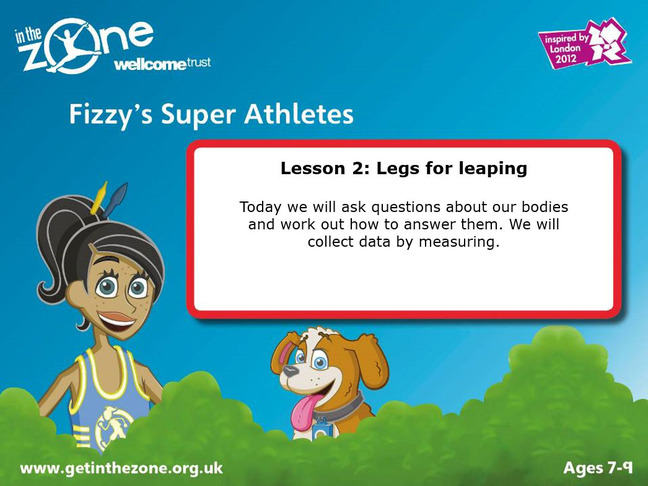 Slide from In The Zone: Legs for leaping activity
