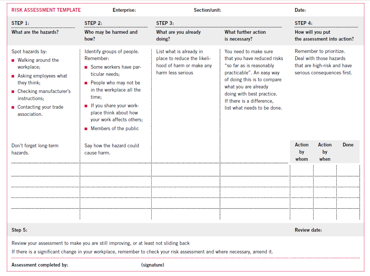 chemical risk assessment template - nice chemical risk assessment template collection