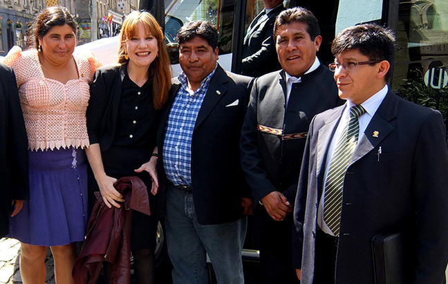 Donna Meeting Bolivian congress