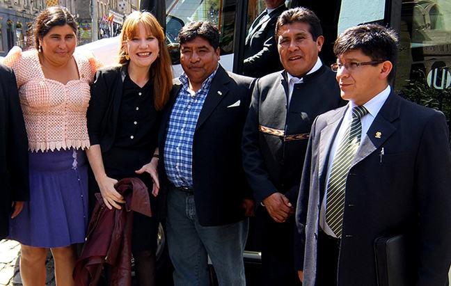 Donna Meeting Bolivian congress