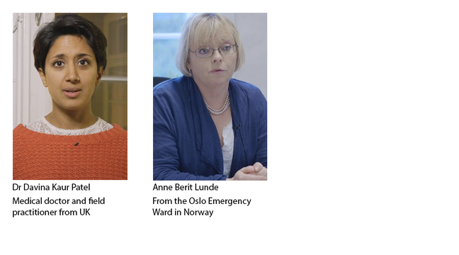 Image showing the co-educators, Dr Davina Kaur Patel and Anne Berit Lunde
