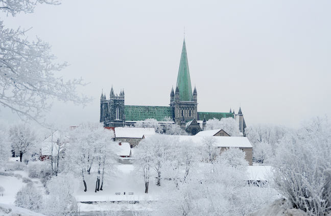 Nidaros Cathedral on Christmas