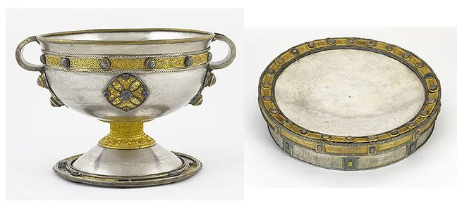 figures 4-5, the Ardagh chalice and the Derrynaflan paten, respectively