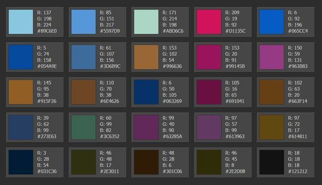 Palette 2 - fully-saturated brights