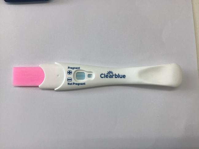 A negative pregnancy test