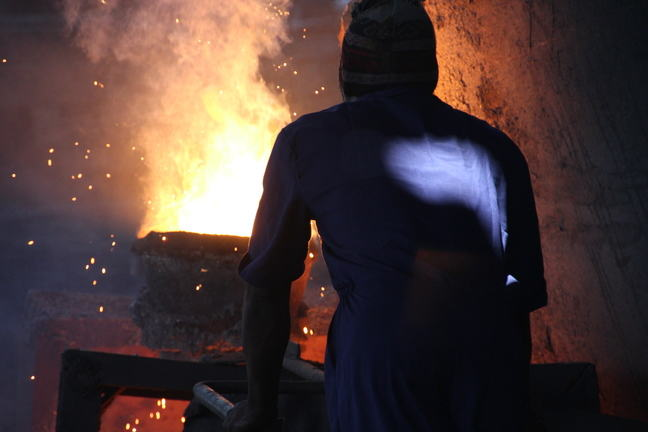 Smelteries are examples of workplaces with very high temperatures
