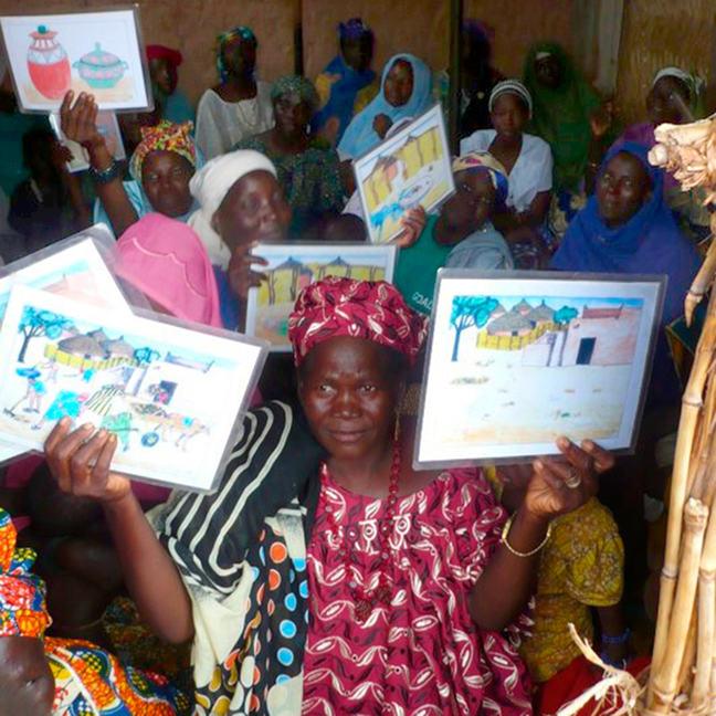 Water point committee members in Niger
