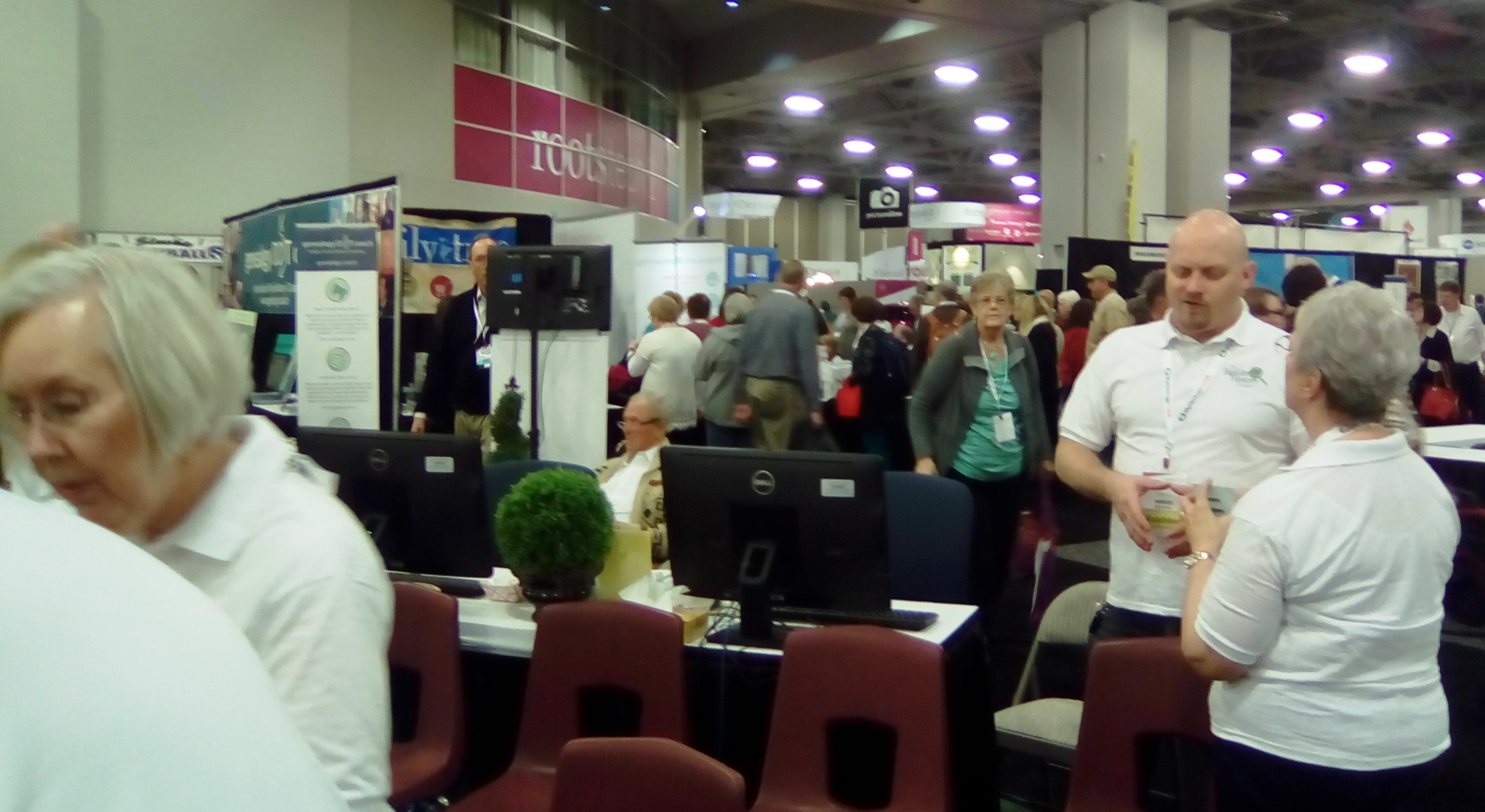 crowded exhibit hall