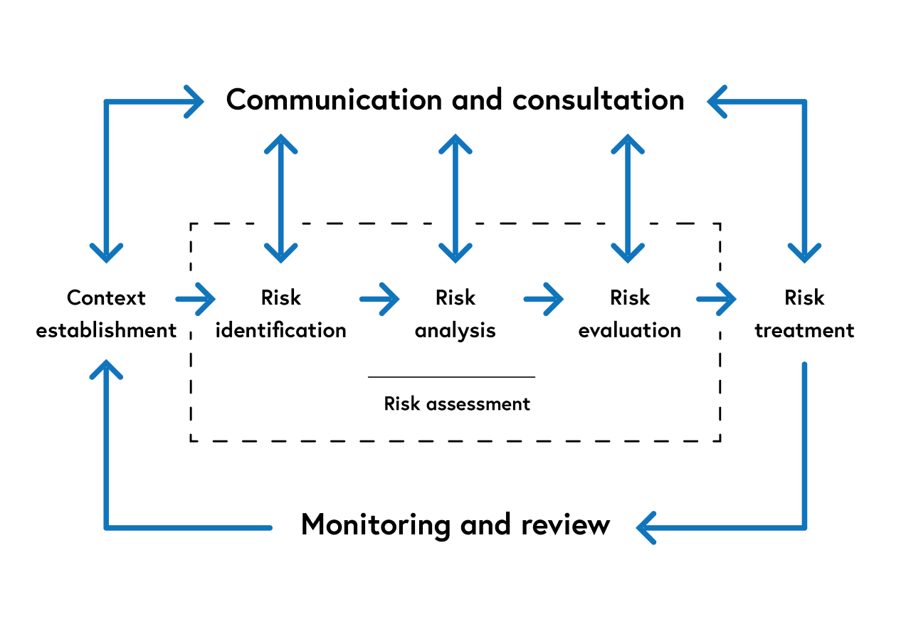 An illustration of the information risk management and information assurance processes as described below